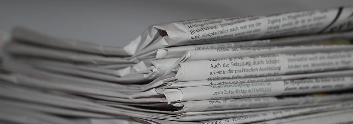 Zeitungsstapel