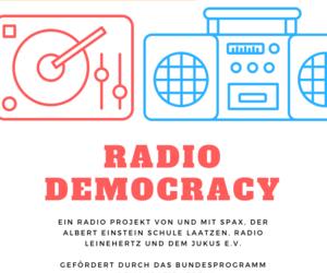 Banner des Projektes Demokratie leben mit stilisierten HiFi-Symbolen [(c) Daniel Junker]