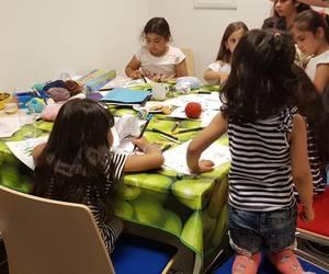 Sommerfest des Projektes 'Nachbarschaft leben' in der Flüchtlingsunterkunft an der Pestalozzistraße.