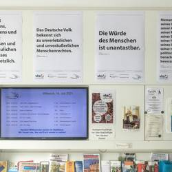 Plakataktion Grundgesetz - Öffentlichkeitsarbeit Demokratie leben! Laatzen