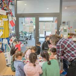Präsentation des mobilen Wertebaumes im Stadthaus Laatzen
