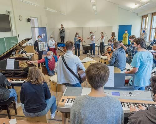 Klezmer-Workshop mit dem Finkelstein-Trio © Daniel Junker